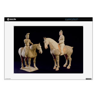 """Two Riders, Chinese, Tang dynasty (618-906) (terra 15"""" Laptop Decals"""