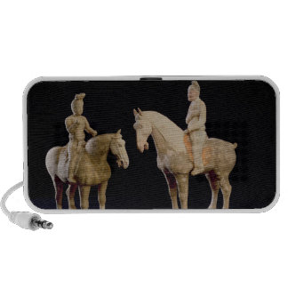 Two Riders, Chinese, Tang dynasty (618-906) (terra Laptop Speaker