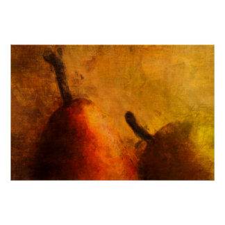 Two Ripe Pears Old World Art Print
