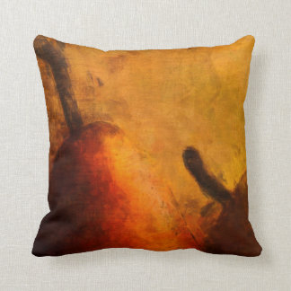 Two Ripe Pears Old World Art Style Throw Pillows