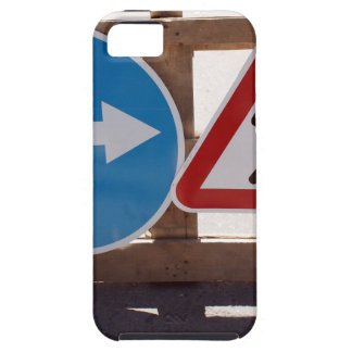 Two road signs low wooden stand iPhone SE/5/5s case