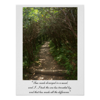 Two roads diverged in a wood Poster version 2