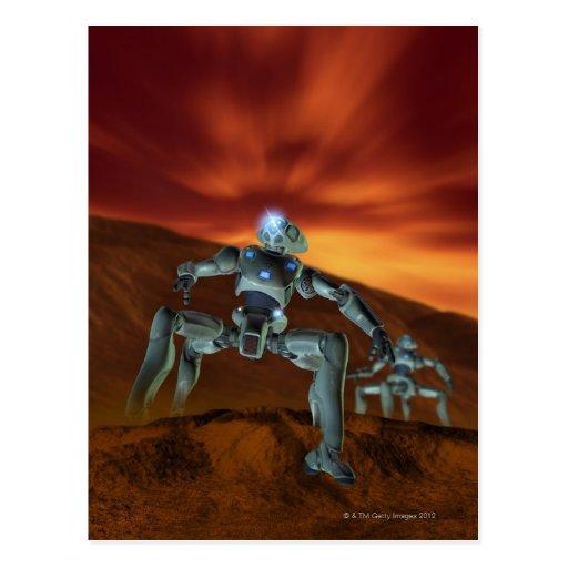 Two Robots Postcard