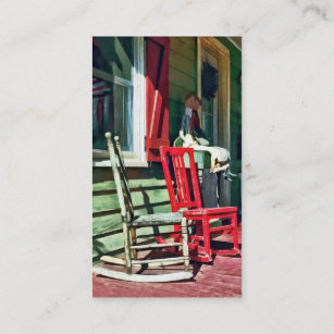 Two Rocking Chairs On Porch Business Card