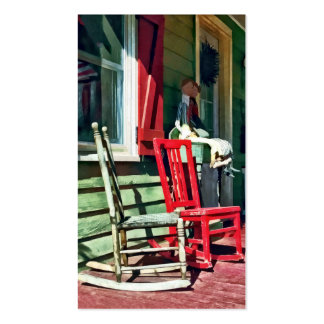 Two Rocking Chairs on Porch Double-Sided Standard Business Cards (Pack Of 100)