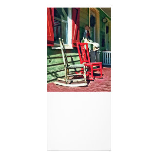Two Rocking Chairs on Porch Rack Card
