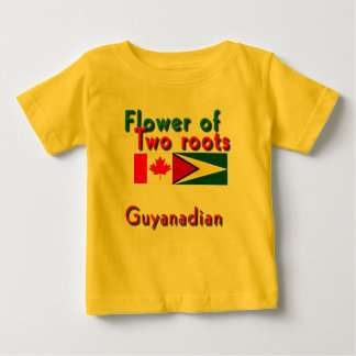 two roots guyananese-canadian baby t-shirts