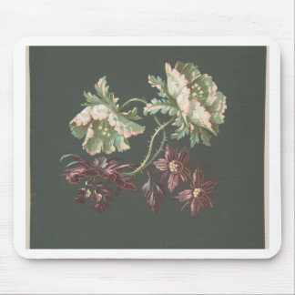 Two Roses and Two Small Flowers Mouse Pad