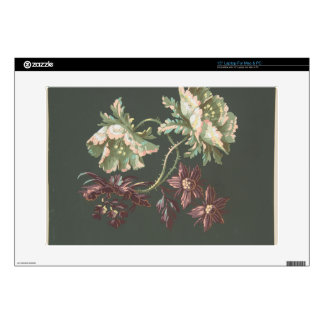 Two Roses and Two Small Flowers Skin For Laptop
