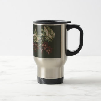 Two Roses and Two Small Flowers Travel Mug