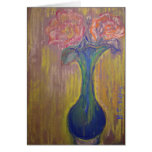 Two Roses and Vase Greeting Card