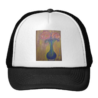 Two Roses and Vase Trucker Hat