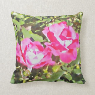 """Two Roses"" by DesignbyKrizRogers Throw Pillow"