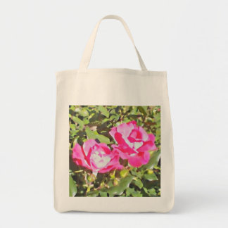 """Two Roses"" by DesignbyKrizRogers Tote Bag"