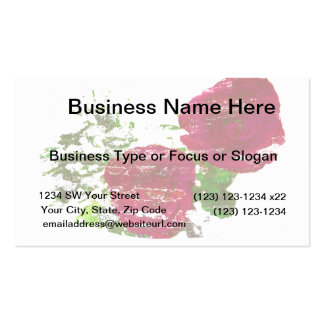two roses grunged graphic business card