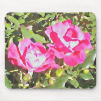 """Two Roses"" Mouse pad by DesignbyKrizRogers"