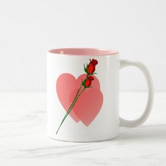 Two Roses  Two Hearts Mug