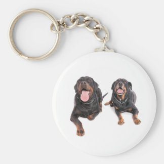 two rottweilers, keychain