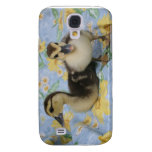two rouen ducklings against flowered background galaxy s4 cover