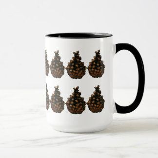 Two Rows of Pine Cones:  Oil Pastel Art Mug