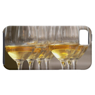 two rows of wine tasting glasses with lucious iPhone SE/5/5s case