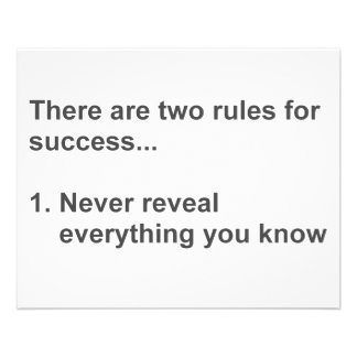 Two Rules For Success Revealed Personalized Flyer