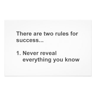 Two Rules For Success Revealed Stationery