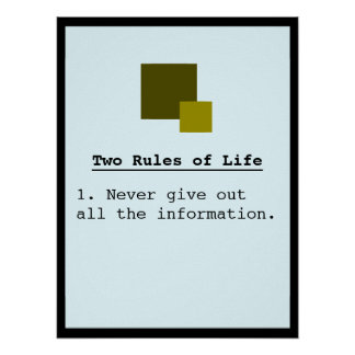 Two Rules Poster