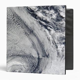 Two S-Shaped Polar Hurricanes 3 Ring Binder
