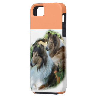 Two Sable Rough Collies iPhone SE/5/5s Case