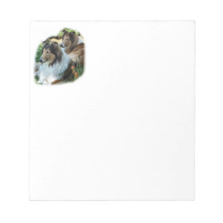 Two Sable Rough Collies Notepad