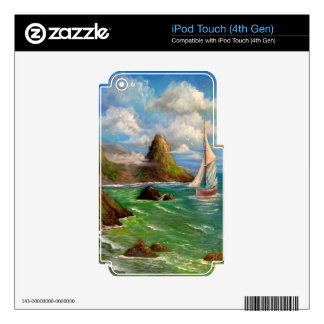 Two Sail Boat Seascape Design iPod Touch 4G Decals