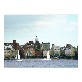 Two Sailboats Against Manhattan Skyline Personalized Invitations