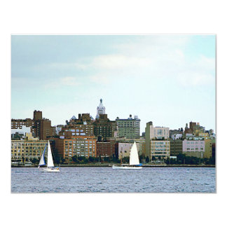 Two Sailboats Against Manhattan Skyline Invitations