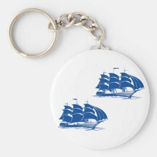 Two Sailing Ships Keychain