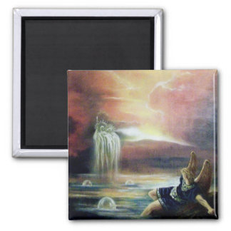 TWO SAINT JOHN AND FALLEN ANGEL 2 INCH SQUARE MAGNET