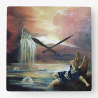 TWO SAINT JOHN AND FALLEN ANGEL WALL CLOCKS
