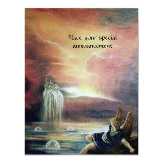 "TWO SAINT JOHN AND FALLEN ANGEL 4.25"" X 5.5"" INVITATION CARD"