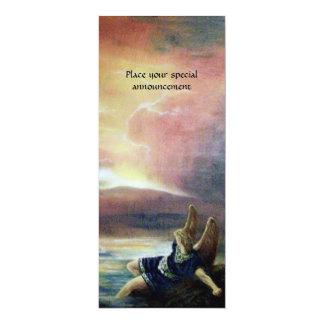 "TWO SAINT JOHN AND FALLEN ANGEL 4"" X 9.25"" INVITATION CARD"