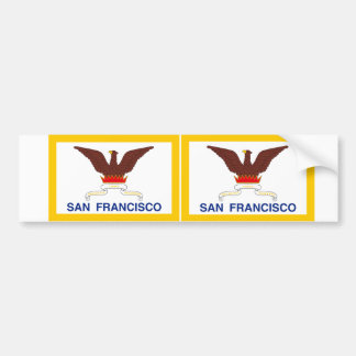 TWO San Francisco Flag Bumper Sticker