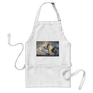Two Satellite Dishes in the Sky Adult Apron