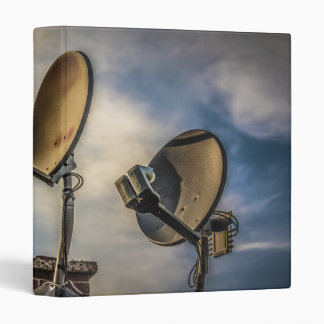 Two Satellite Dishes in the Sky 3 Ring Binder