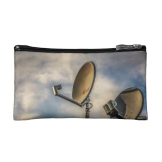 Two Satellite Dishes in the Sky Makeup Bag