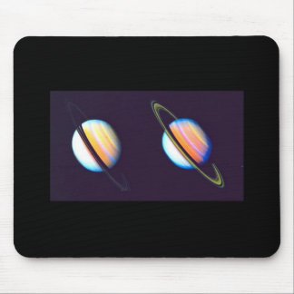 Two Saturn Planets Mouse Pad