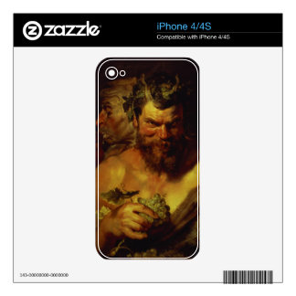 Two Satyrs (oil on panel) iPhone 4 Skins