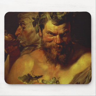 Two Satyrs (oil on panel) Mouse Pad