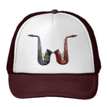 Two Saxes Hat at Zazzle
