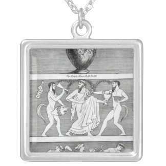 Two Scenes from an Etruscan Vase Silver Plated Necklace