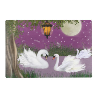 Two scenes laminated place mat