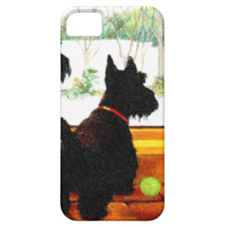 Two Scottie Dogs Waiting for Santa Claus iPhone 5 Cover
